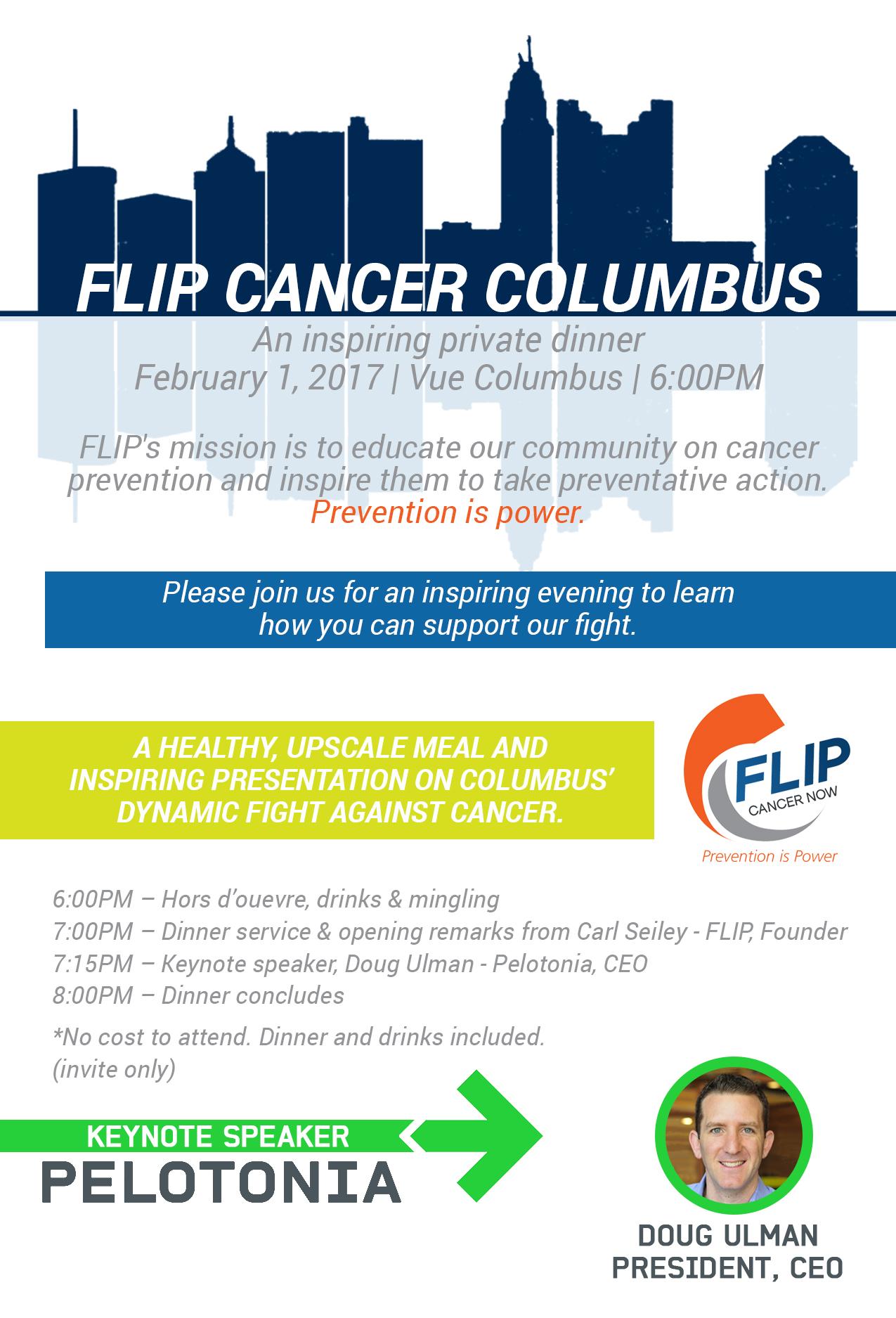 FLIP Cancer's Private Dinner - FLIP Cancer Now